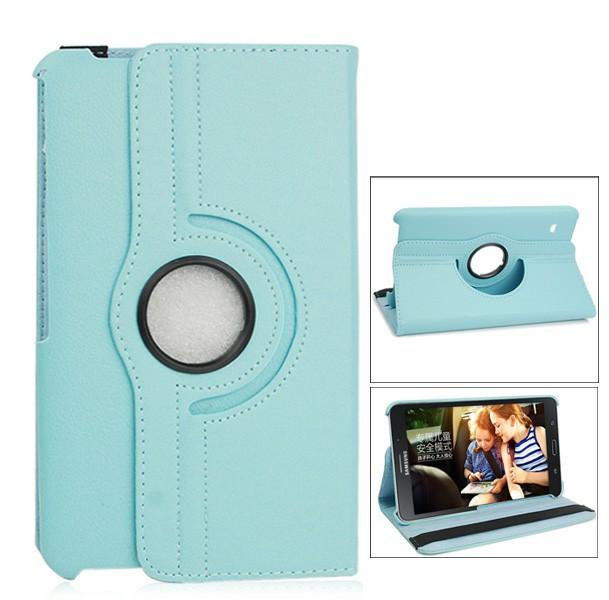 360 Degree Rotating Flip Case for Samsung Galaxy T330 Tab4 8.0 - Blue