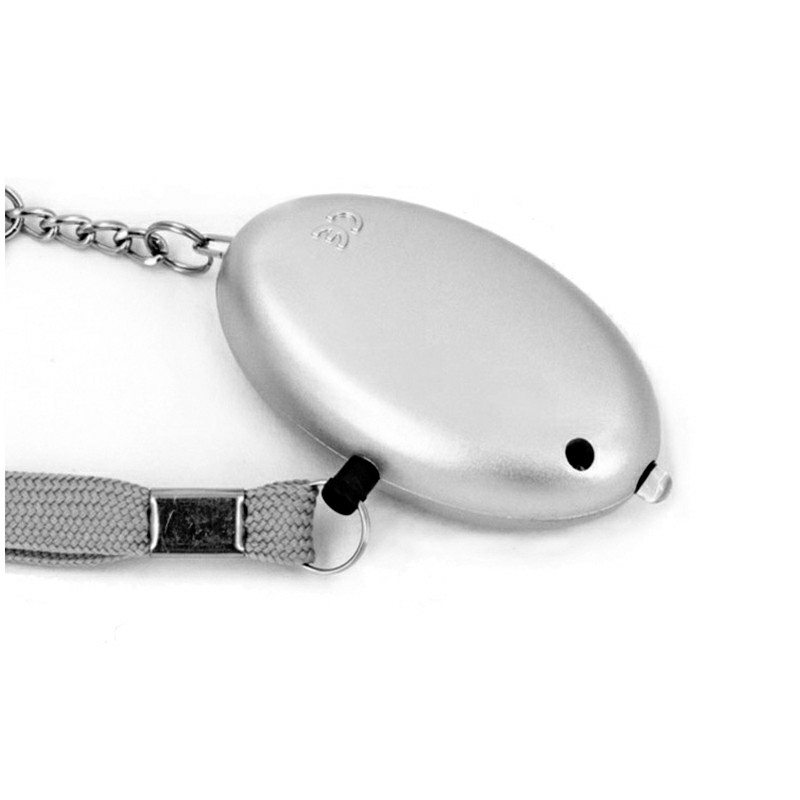 130db Personal Panic Rape Alarm Keyring Loud Sound Safety Security - Silver