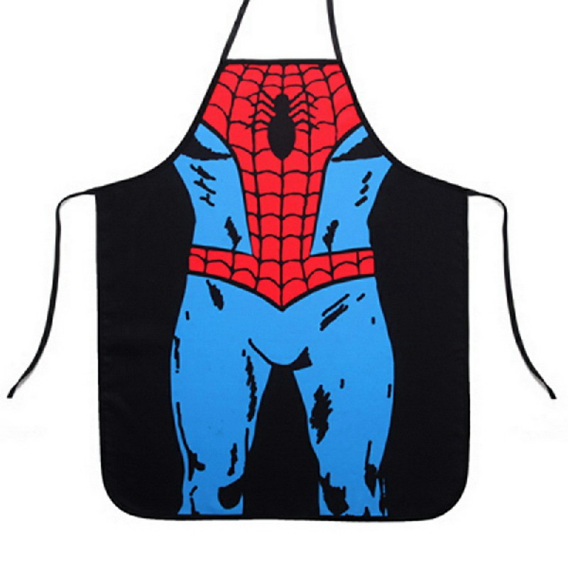 Funny Cooking Kitchen Apron Novelty Sexy Dinner Party Aprons - Spiderman