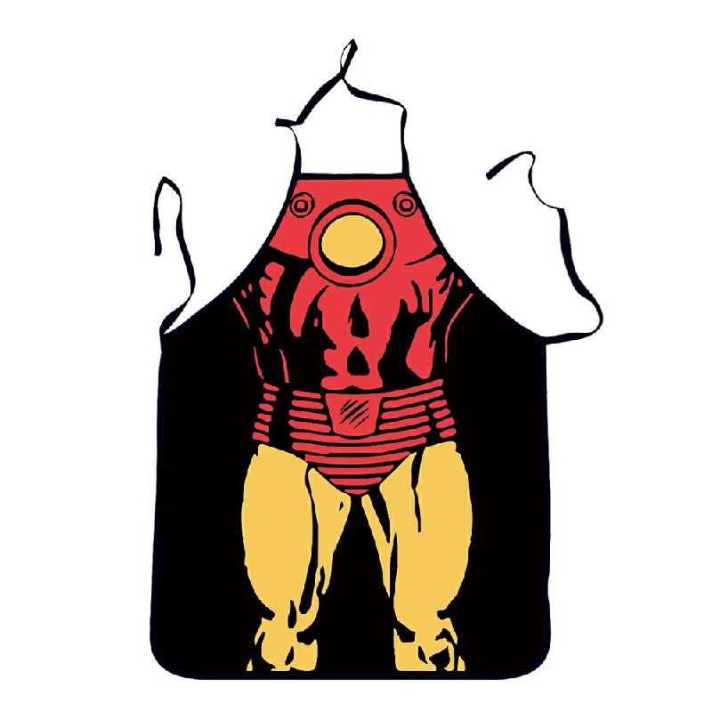 Funny Cooking Kitchen Apron Novelty Sexy Dinner Party Aprons - Iron Man