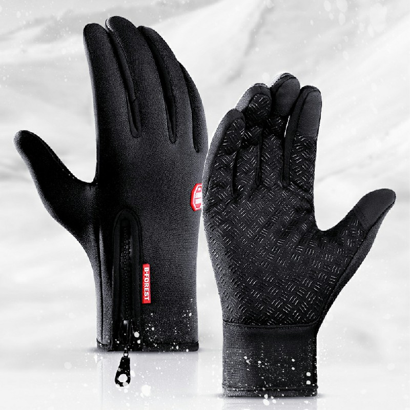 Winter Gloves Waterproof Thermal Touch Screen Thermal Windproof Warm Gloves - L