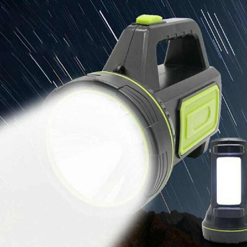 135000LM LED Searchlight Spotlight USB Rechargeable Hand Torch Work Light Lamp with Side Light