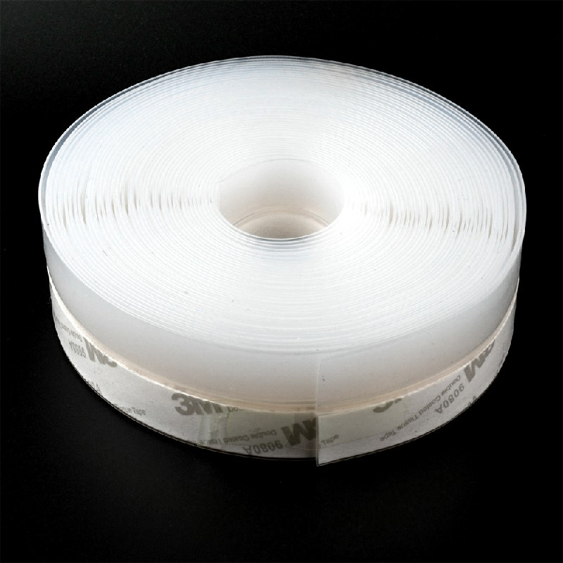 10m Door Seal Strip Bottom Self Adhesive Weather Stripping Soundproof for Window - 25mm