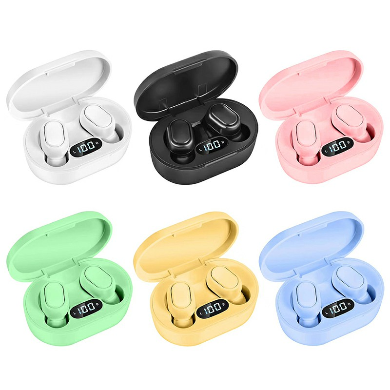E7S TWS Wireless V5.0 Bluetooth Earphones Mini Stereo Earbuds Macaron Colour