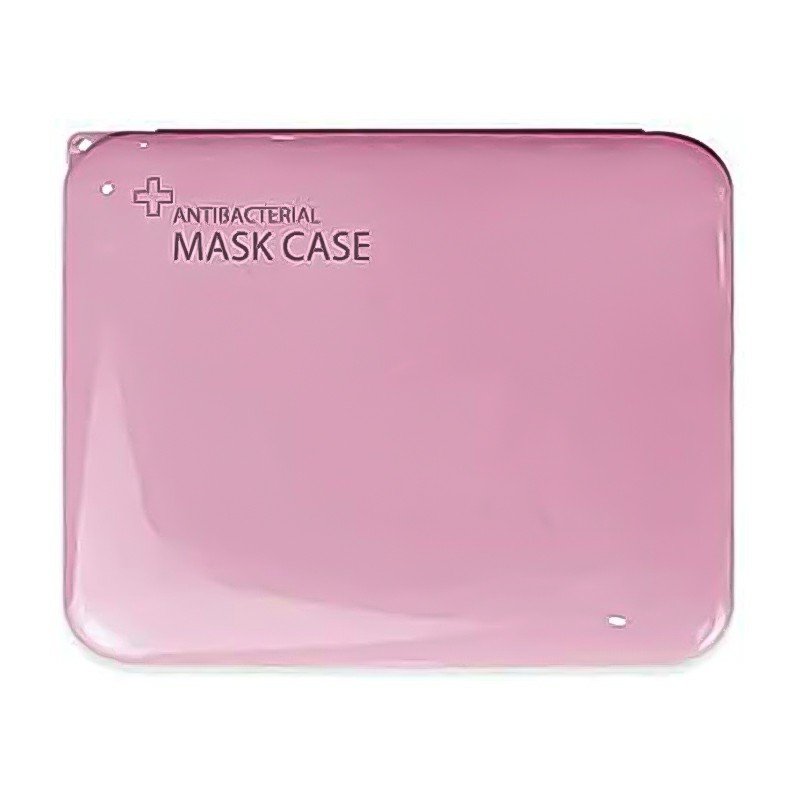 Storage Box for Disposable Mask Portable Mask Holder Organizer for Masks Wet Wipes Gloves - Pink