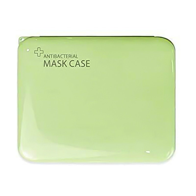 Storage Box for Disposable Mask Portable Mask Holder Organizer for Masks Wet Wipes Gloves - Green