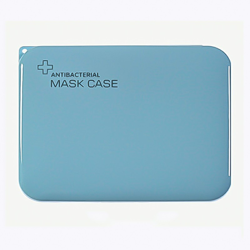 Storage Box for Disposable Mask Portable Mask Holder Organizer for Masks Wet Wipes Gloves - Blue
