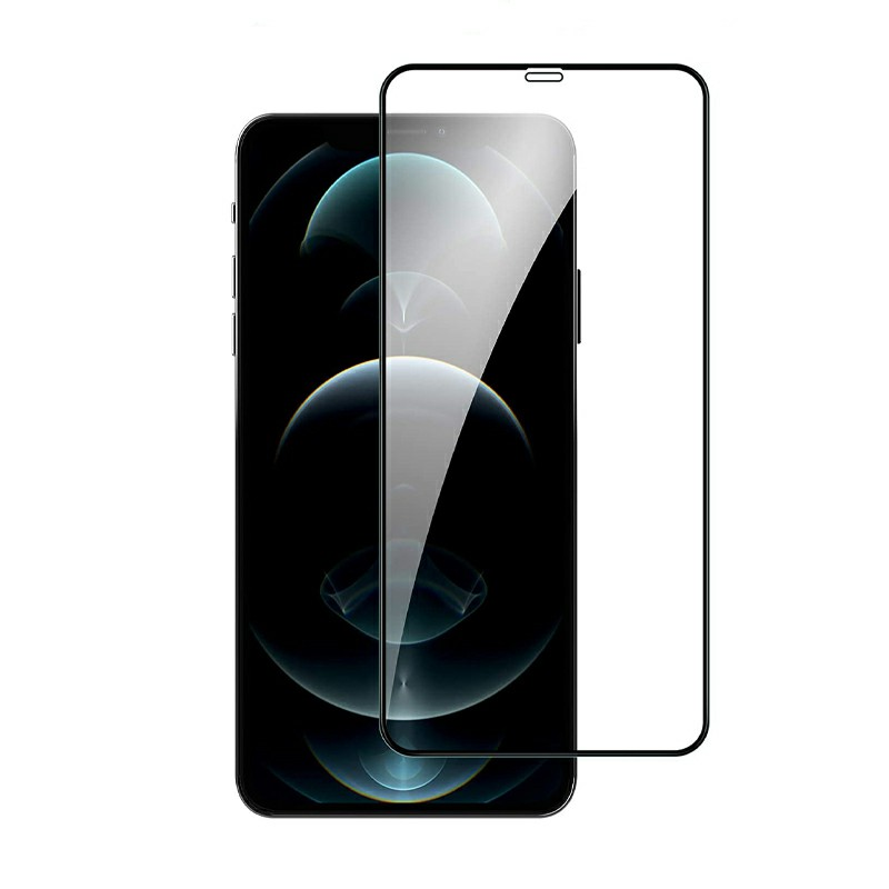 9D Full Cover Screen Protector Tempered Glass Black Edge for iPhone 12