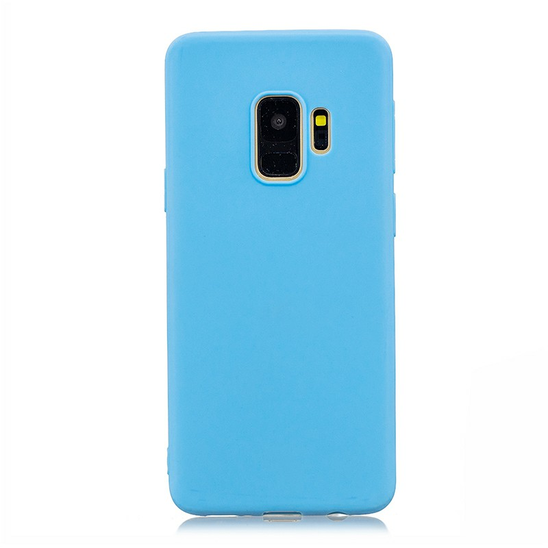 Slim Flexible Soft Rubber TPU Shockproof Case Back Cover for Samsung S9 - Blue