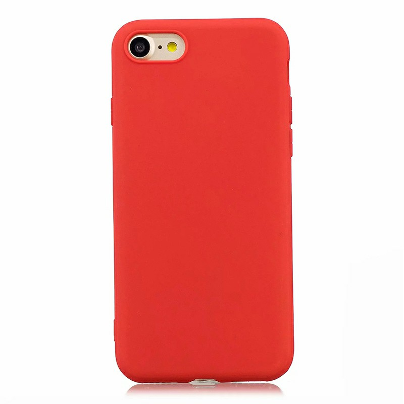 Ultra Thin Slim Soft TPU Gel Rubber Back Cover Case for iPhone 7/8 - Red