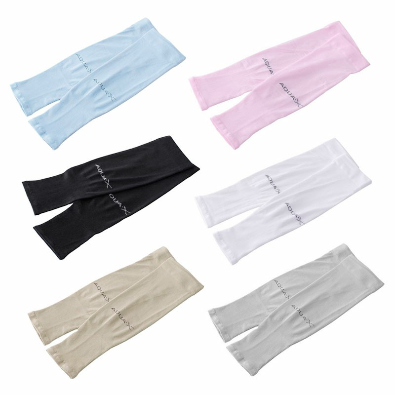 1 Pair Cooling Warmer UV Sun Protection Arm Sleeves Cover for Outdoor Sports - Grey