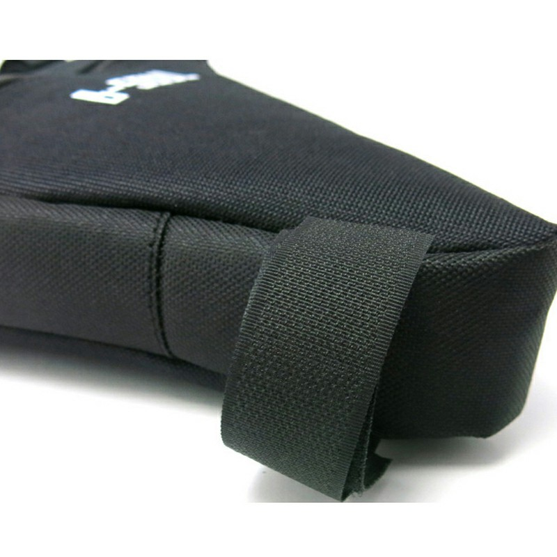 Cycling Bike Front Tube Frame Bag Waterproof Triangle Bicycle Pouch Bag - Black
