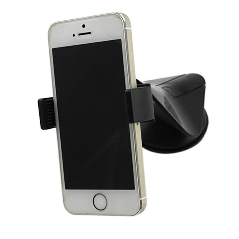360 Degree Suction Bat Pattern Phone Mount Holder Stand Car Dashboard - Black