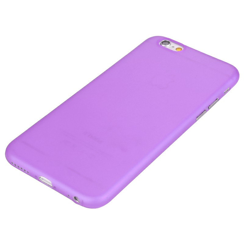 Newest PC Frosted Back Cover Ultra Thin Shell Case for iPhone 6 - Purple