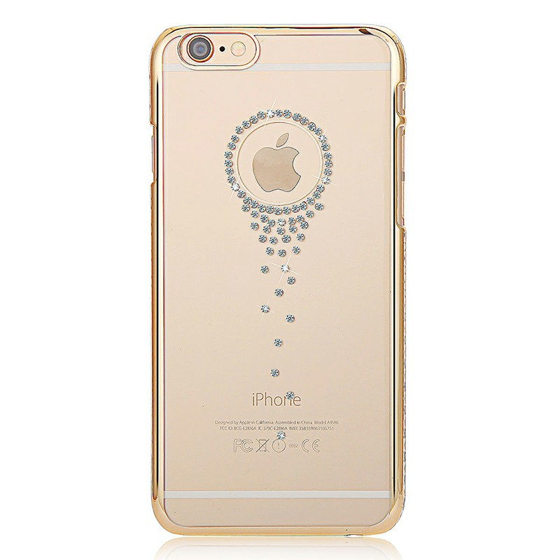 Angel Tears Thin Slim PC Case Skin with Bling Crystal for iPhone 6 4.7 - Gold