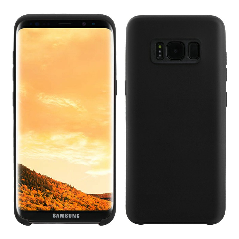 Samsung Case Soft TPU Phone Skin Cover for Samsung Galaxy S8 - Black