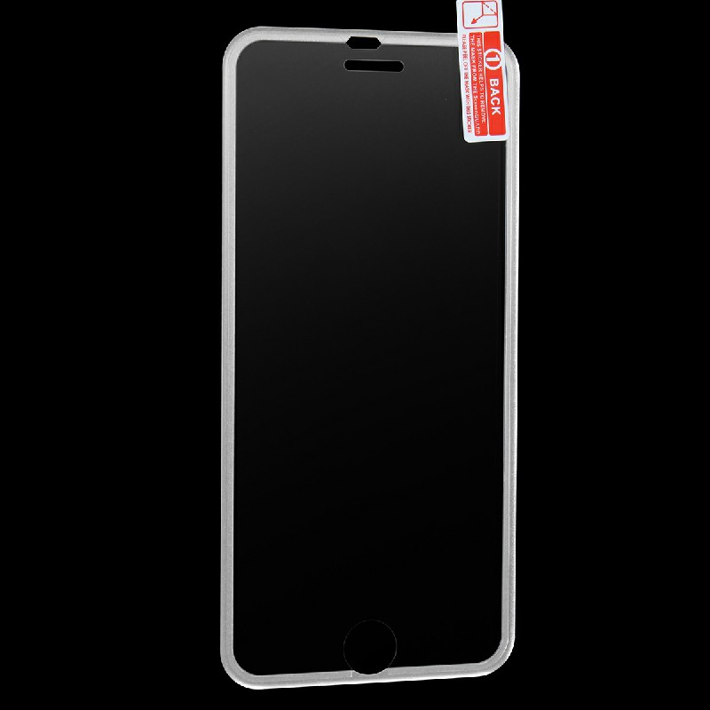 3D Tempered Glass Screen Protector Film with Curved Edge for iPhone 7/8 - Silver