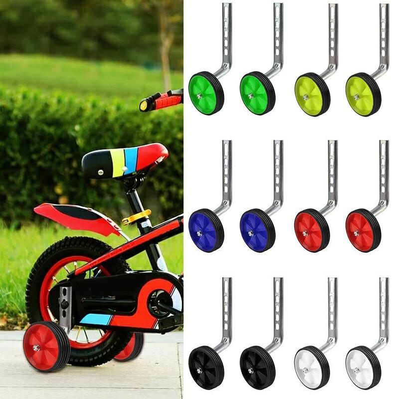 1 Pair Kids Bicycle Stabilisers 12-20inch Universal Children Bike Training Wheels - Red