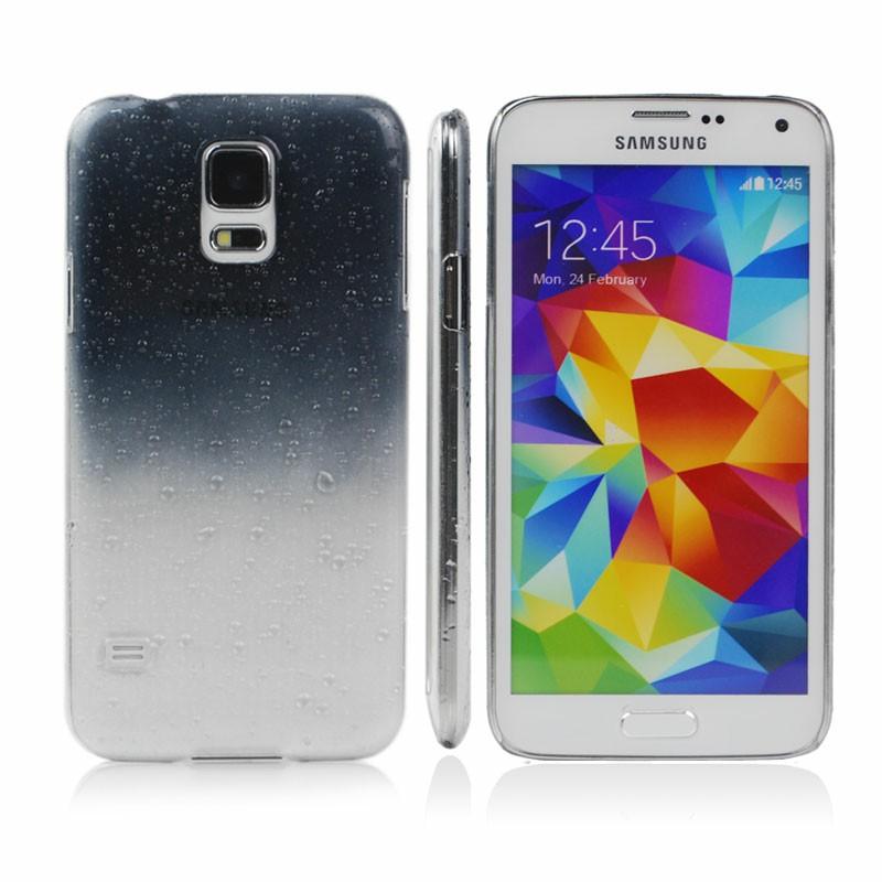 Rain Drop Design Hard Case Back Cover for Samsung Galaxy S5 - Black