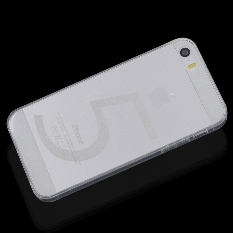 Invisible Transparent TPU Case Back Cover for iPhone 5/5S - Transparent