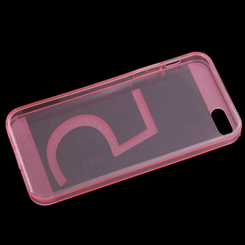 Invisible Transparent TPU Case Back Cover for iPhone 5/5S - Pink