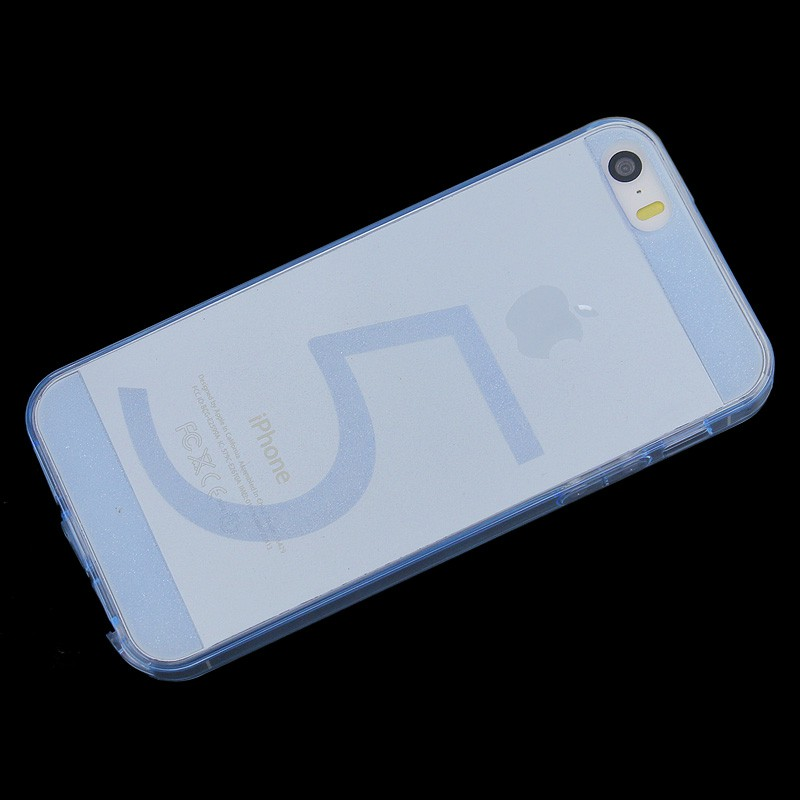Invisible Transparent TPU Case Back Cover for iPhone 5/5S - Blue
