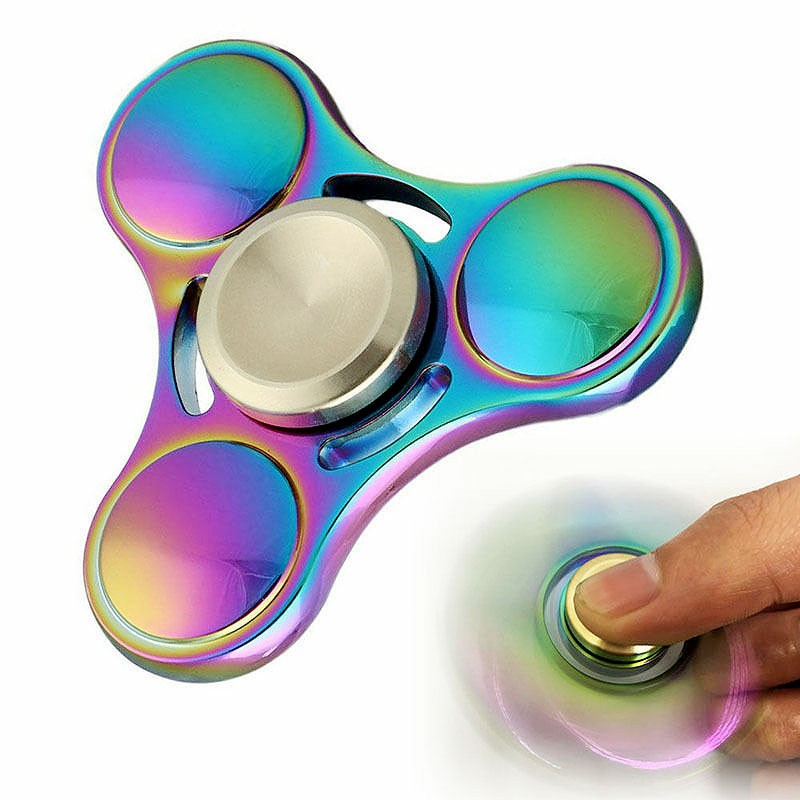 EDC Rainbow Spinner Hand Finger Fidget Toys with Metal Bearings