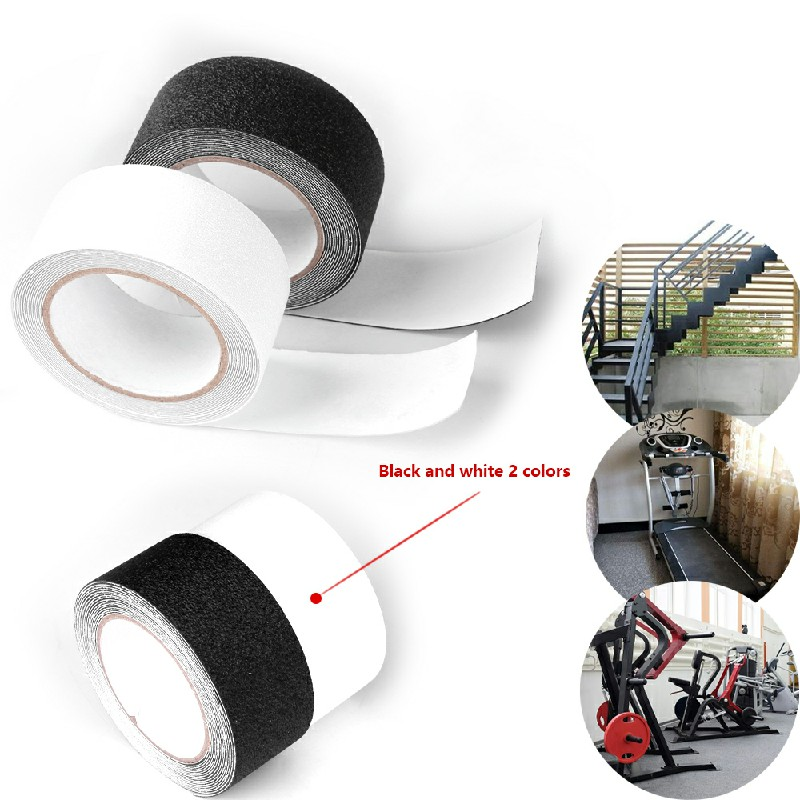 Anti Slip Tape Black Non Slip High Grip Adhesive Safety Flooring Sticky Backed Transparent - 50mm x 5m