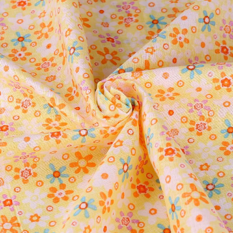 5pcs 50x50cm Cotton Fabric Assorted Pre-Cut Fat Quarters Bundle DIY Decor