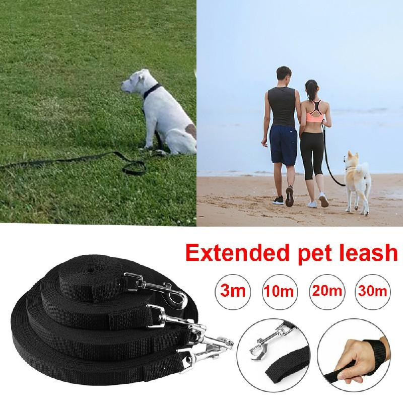 Dog Training Lead Strong Rope Webbing Halter Control Leash Recall 30M x 2cm