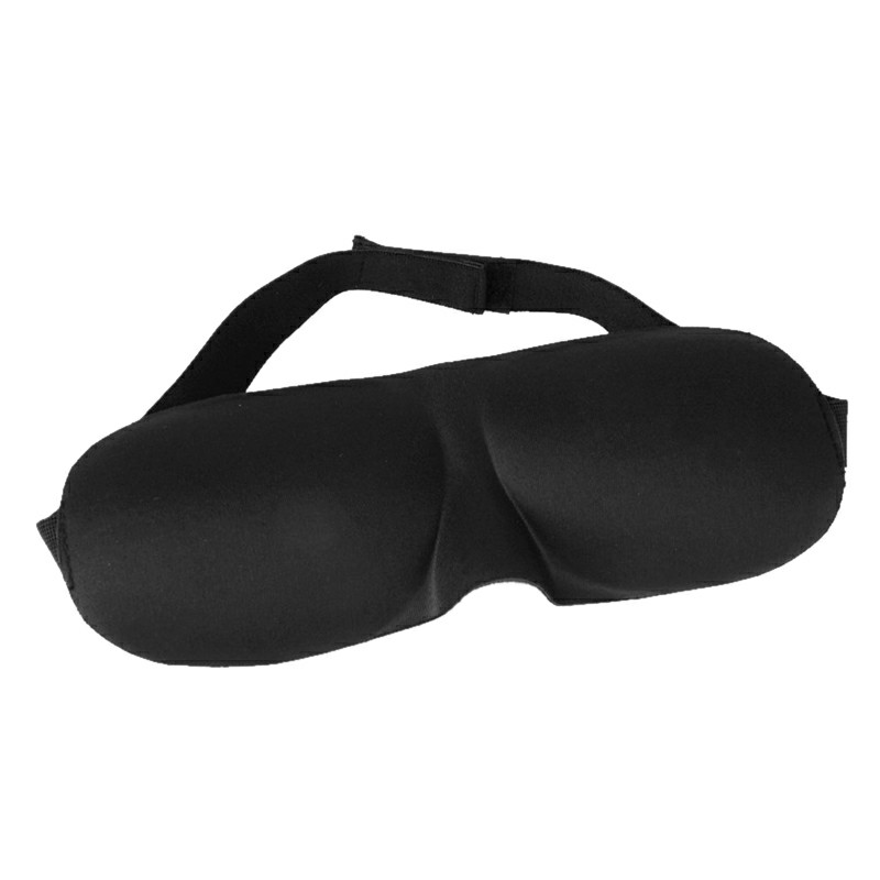 3D Eye Mask Cover Soft Comfortable Sponge Sleeping Blindfold Eyeshade - Black