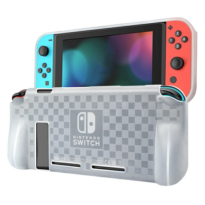 Nintend Switch Anti-Scratch Drop Protection TPU Silicone Case Cover - Transparent