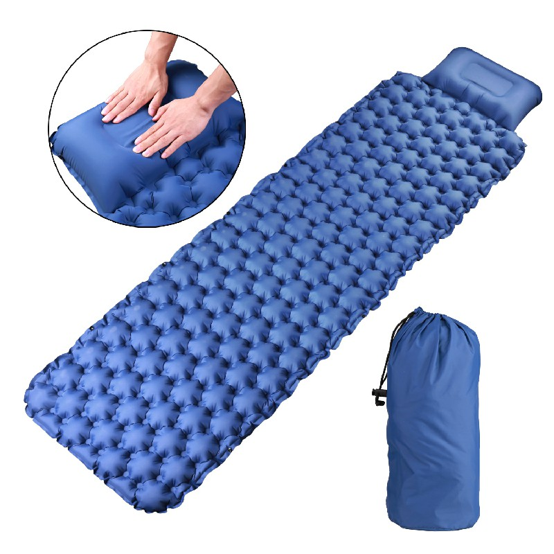 Inflatable Sleeping Mat Ultralight Camping Mattress with Pillow for Camping Hiking Backpacking