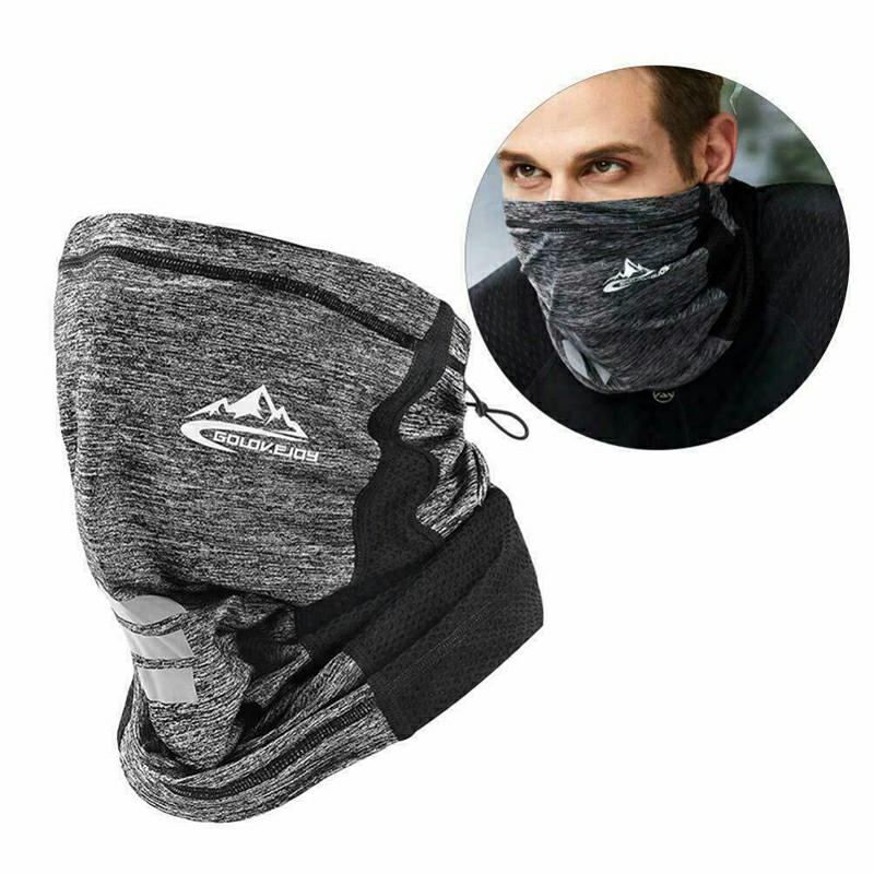 Neck Gaiter Bandana Headband Cooling Face Scarf Shield Head Cover Snood Scarves - Grey