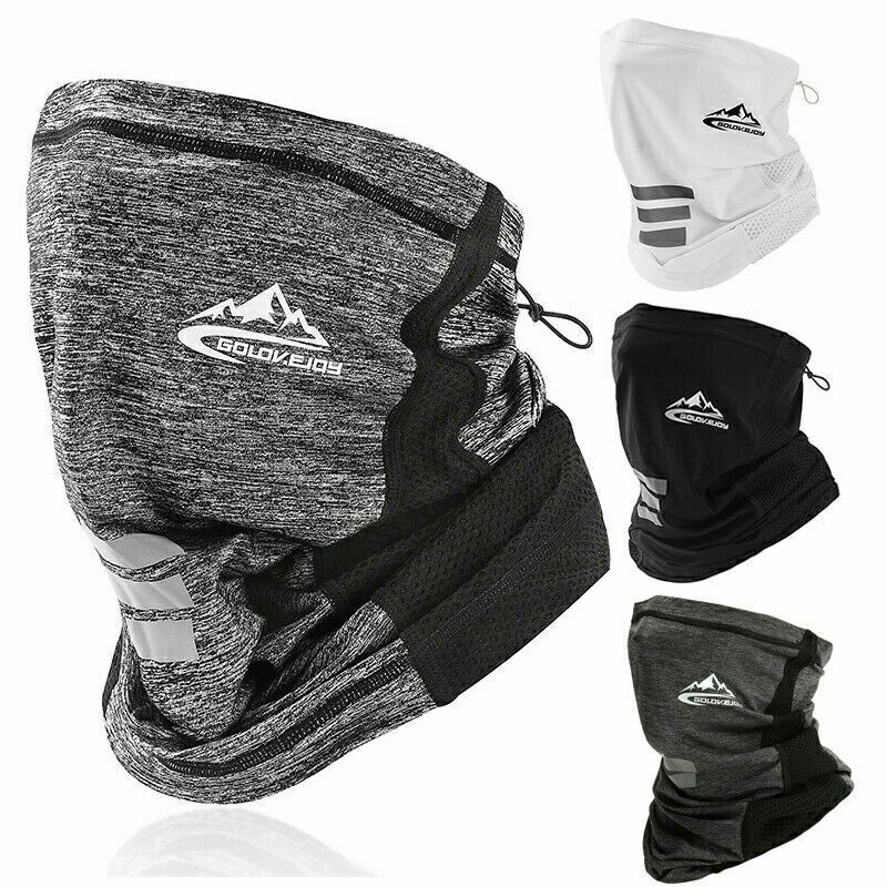 Neck Gaiter Bandana Headband Cooling Face Scarf Shield Head Cover Snood Scarves - Black