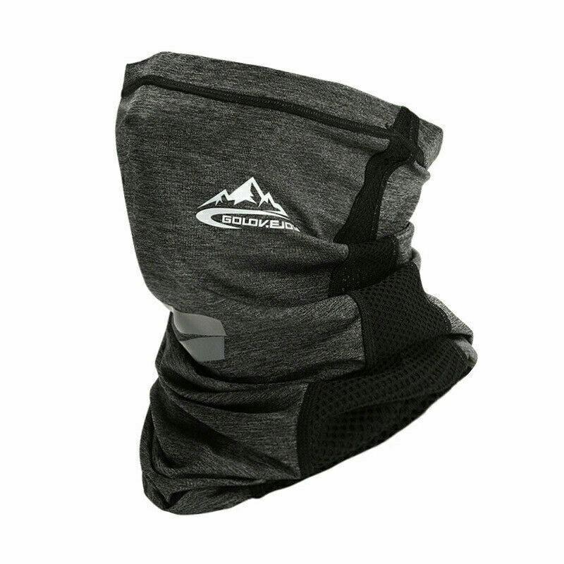 Neck Gaiter Bandana Headband Cooling Face Scarf Shield Head Cover Snood Scarves - Dark Grey