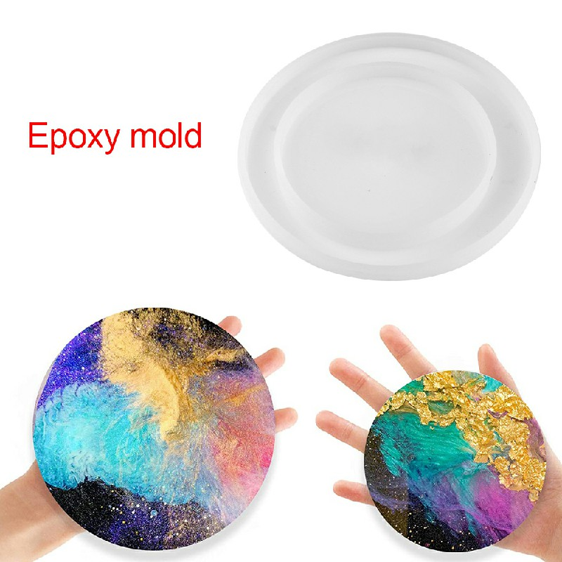 Resin Casting Round Coaster Epoxy Mold Silicone Jewelry Making DIY Craft Mould - Size Plus L