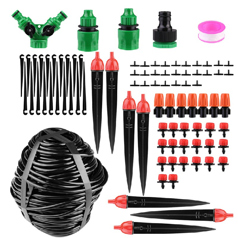 40M Micro Drip Irrigation System Set Automatic Watering Garden Hose Watering