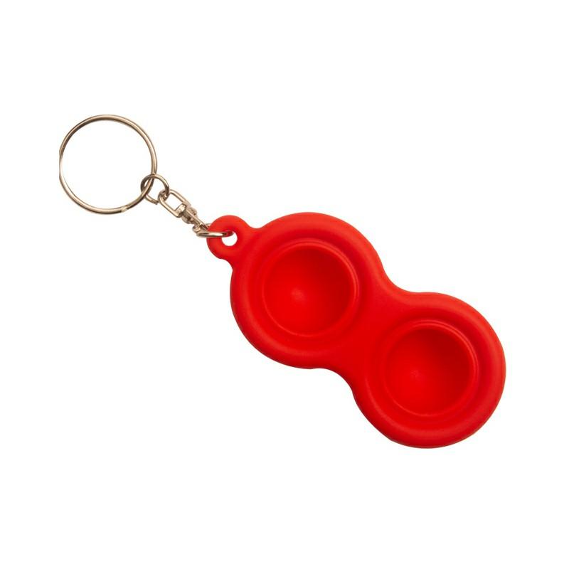 Press Bubble Fun Mini Pressure Relief Fingertip Silicone Finger Practice Keychain - Red