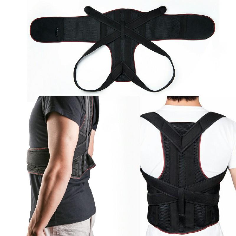 Posture Corrector Brace Women Men Full Back Support Clavicle Shoulder Belt - M