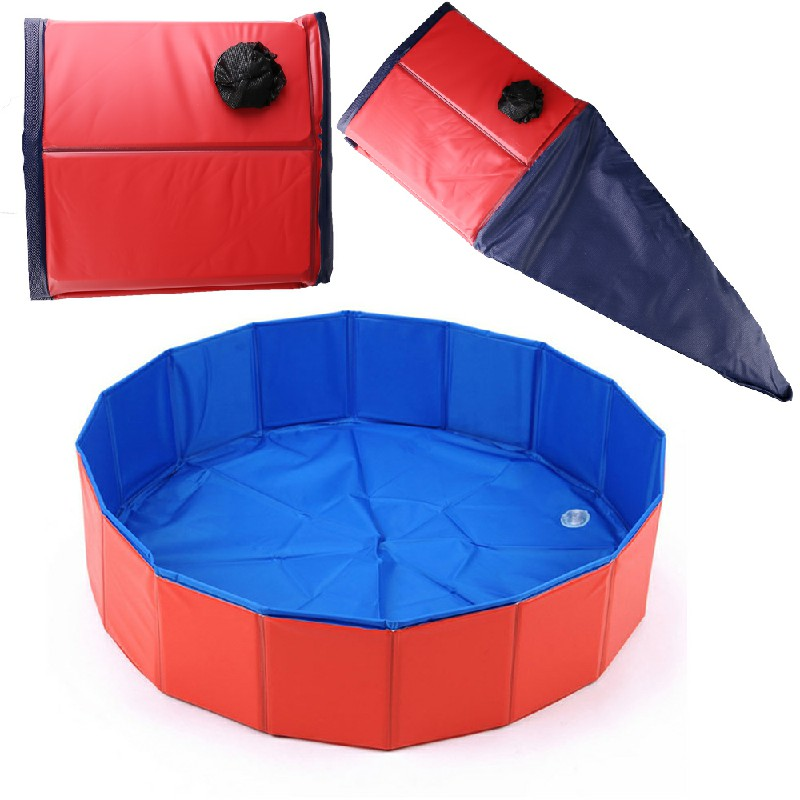 Dog Puppy Pool Bath Swimming Pool Foldable Portable Pet Paddling Bathing - 120x30cm