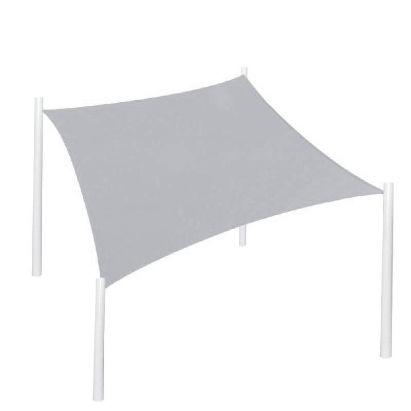 400D Rectangle Outdoor Shade Sail Patio Suncreen Awning Garden Sun Canopy 98% UV Block Grey - 4x3m