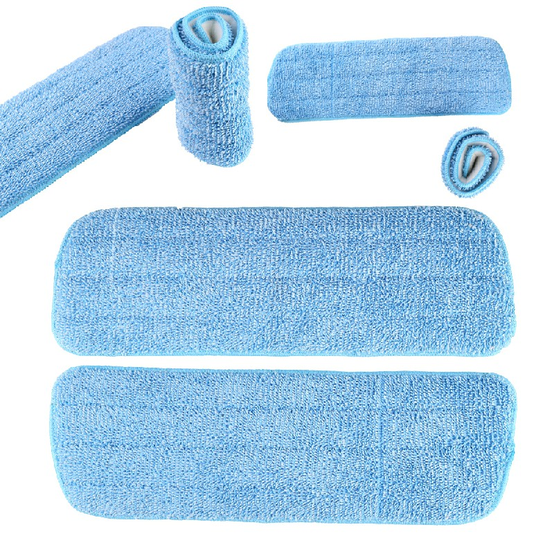 3 pcs Microfibre Replacement Spray Mop Refill Heads Wet Dry Cleaning Washable Pads - Blue