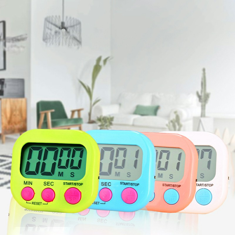 Digital Kitchen Timers with Loud Alarm for Cooking Baking Workout Sports Games - Green