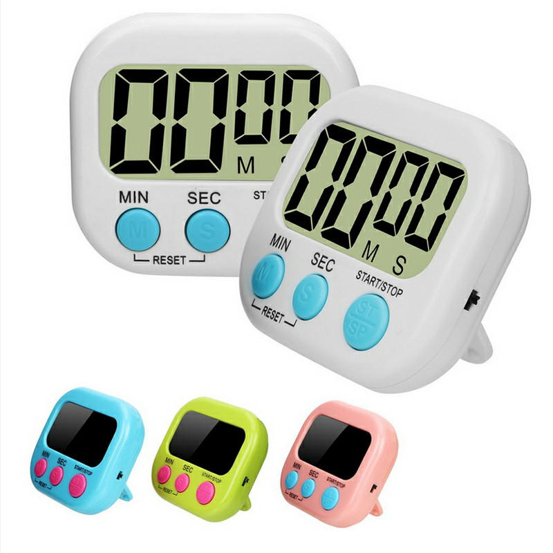 Digital Kitchen Timers with Loud Alarm for Cooking Baking Workout Sports Games - White