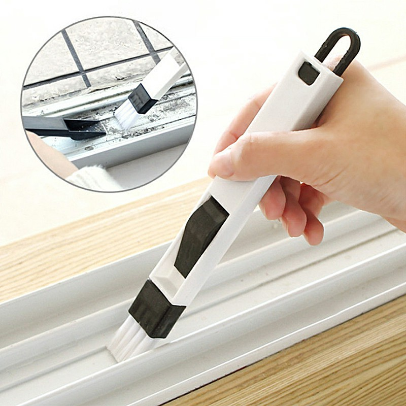 Small Cleaning Brush Household Dust Brush Clean Sliding Door Vents Keyboard - Black