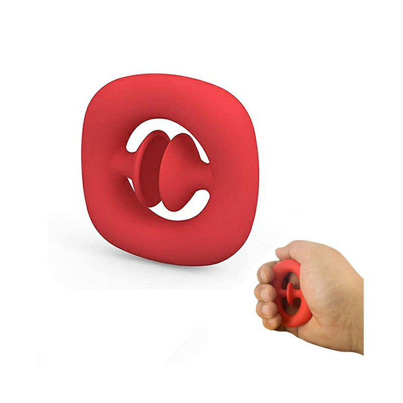 Squeeze Snap Hand Grip Suction Fidget Product Sensory Stress Anxiety Relief ADHD - Red