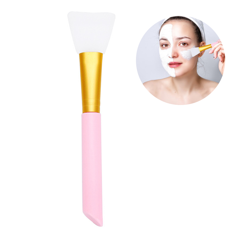 Face Care Soft Silicone Foundation Painting Mask Brush Beauty Makeup Tool DIY Soft Mask Stick - Pink