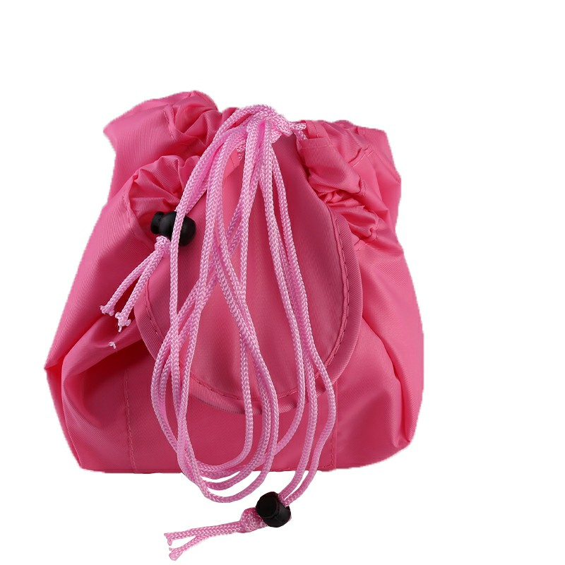 Drawstring Portable Travel Cosmetic Bag Makeup Toiletry - Pink