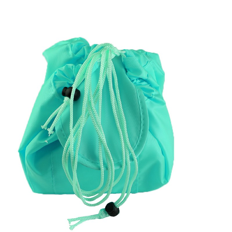 Drawstring Portable Travel Cosmetic Bag Makeup Toiletry - Green